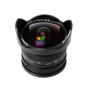 7.5mm fish eye linse til Aps-c og m43 fantastisk arkitektur linse manuell fokus.